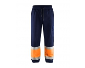 Werkbr. Highvis sweat blauw/oranje mt XL